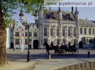 Horse Drawn Carriage, Town Hall, Brugge, Belgium